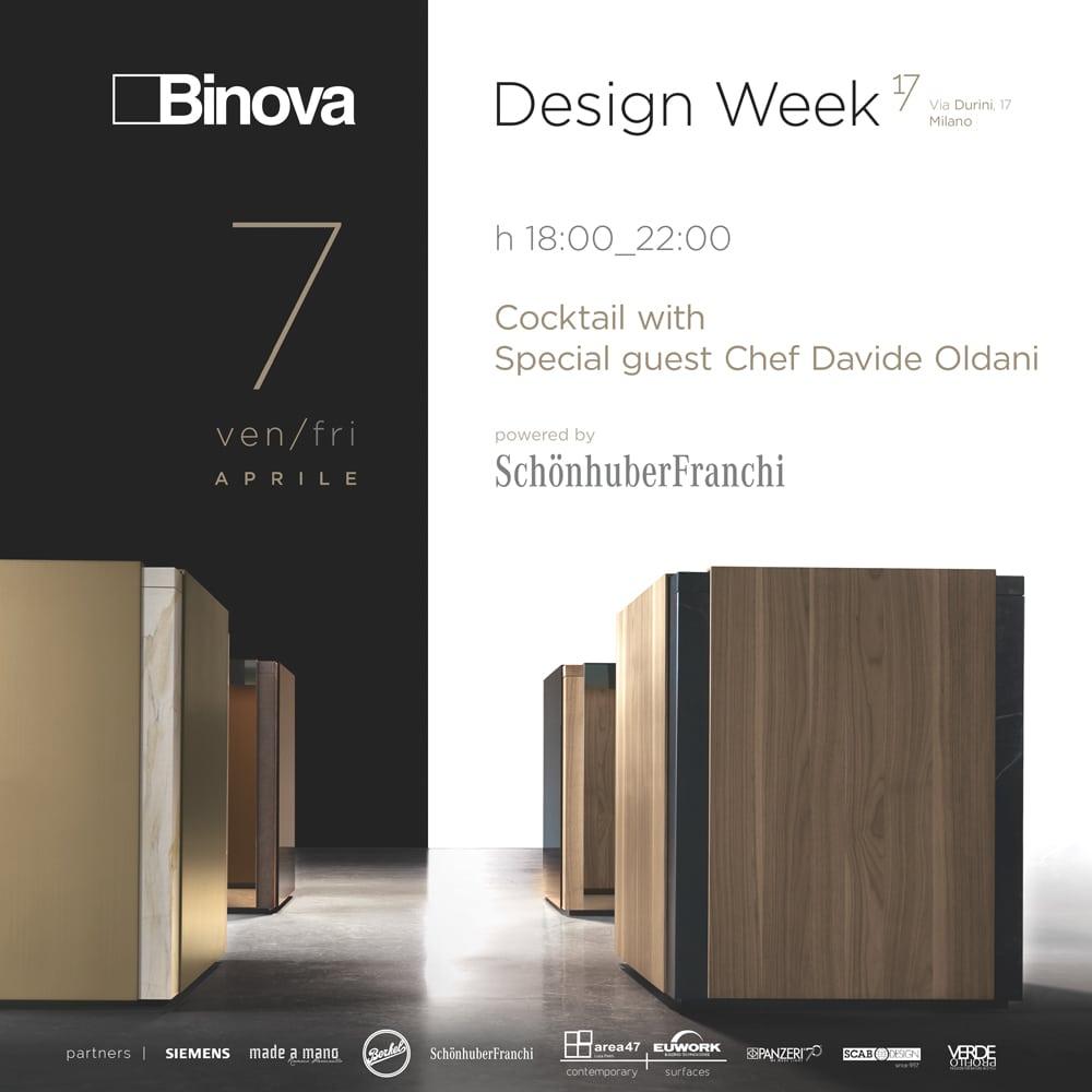 Evento Binova Milano Design Week - 7 aprile fuorisalone 2017